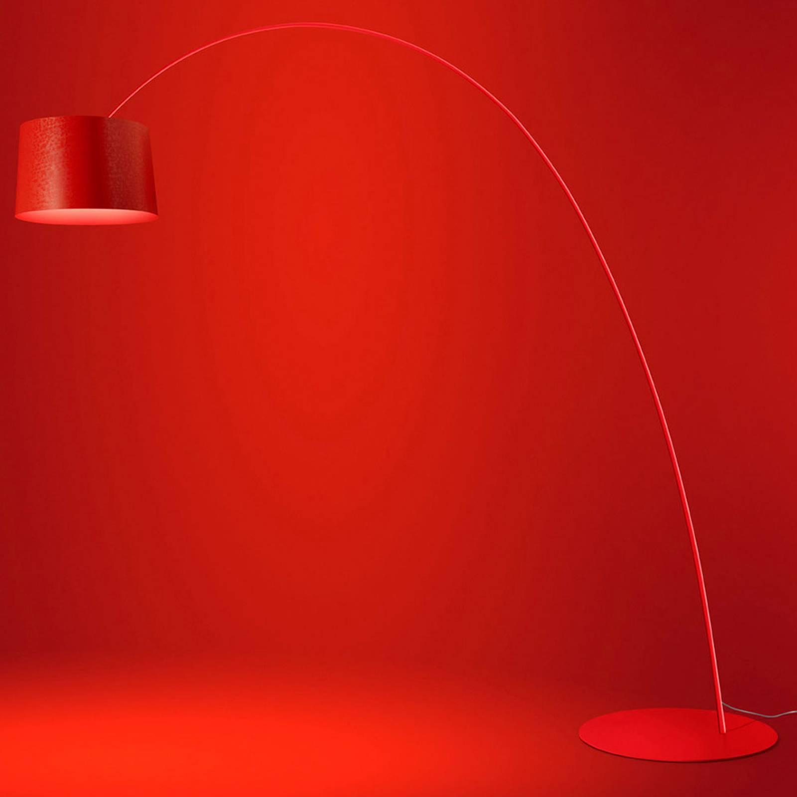 Foscarini Twiggy LED-Stehleuchte purpur