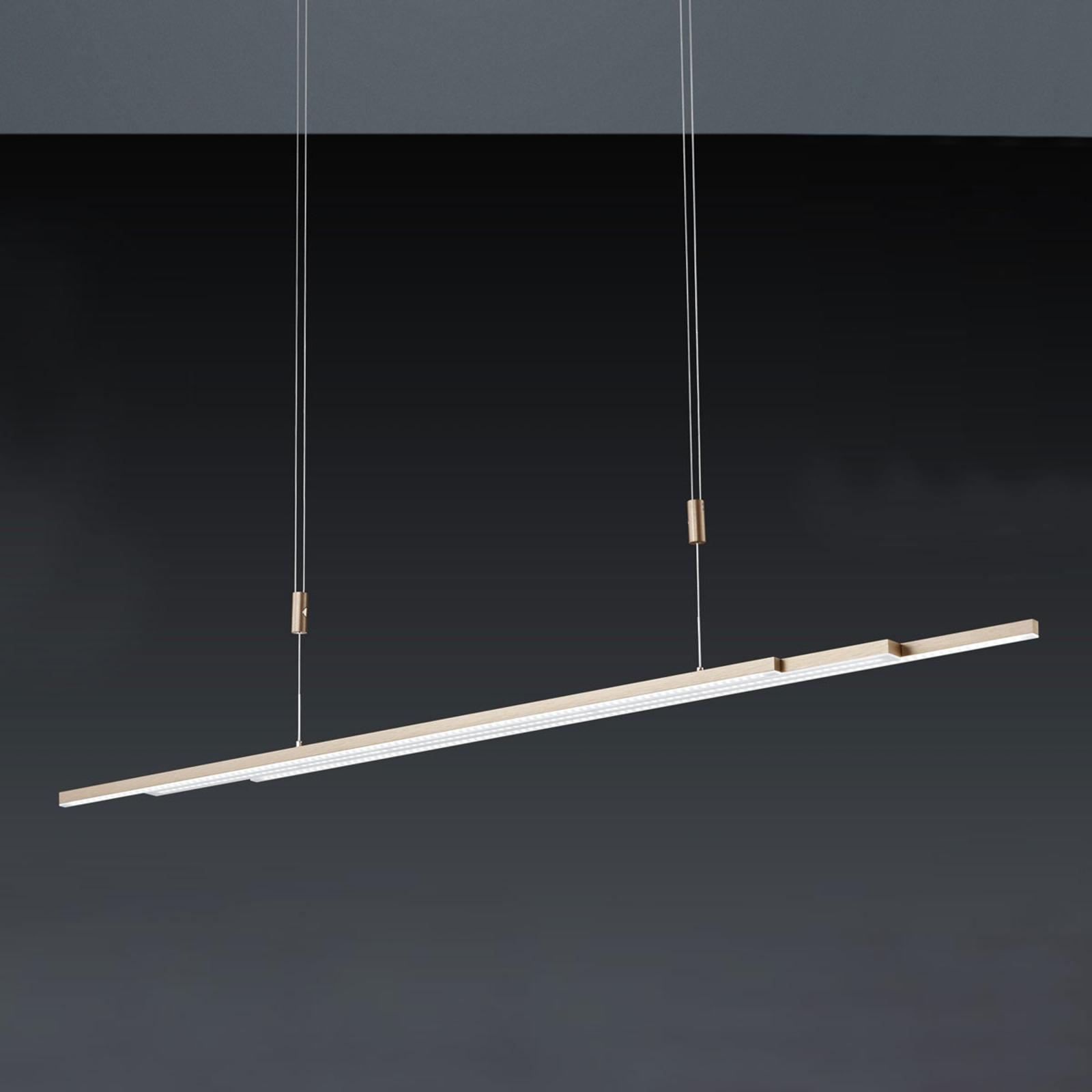 BANKAMP L-lightLINE LED-hanglamp, rosé goud