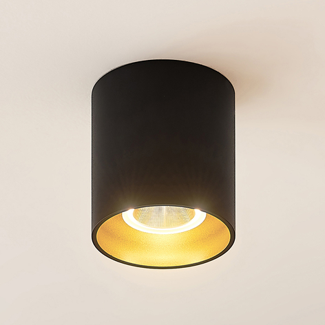 Arcchio Zaki LED ceiling light round black