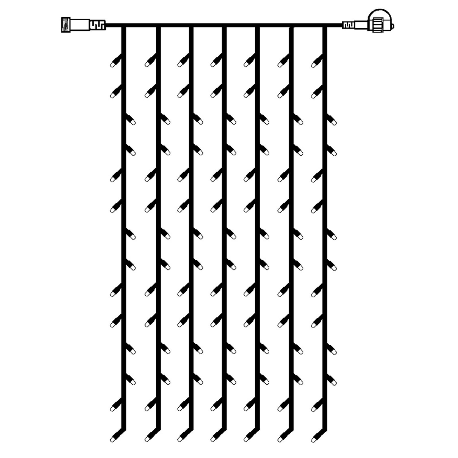 Prodlužovací řetěz LED světelný závěs systém 24
