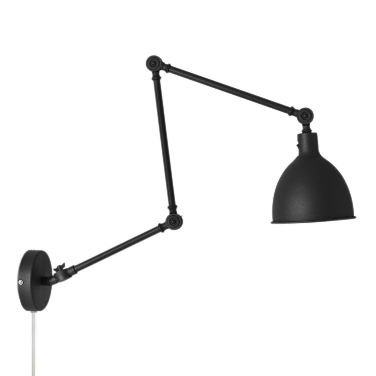 By Rydéns Bazar lampa ścienna z wtyczką, czarna