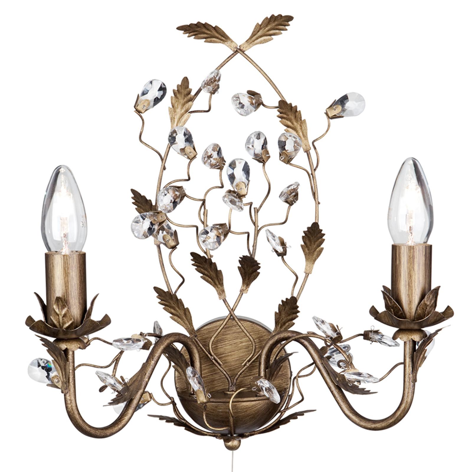 Wandlamp Almandite Florentijnse stijl 2 lichtbr.