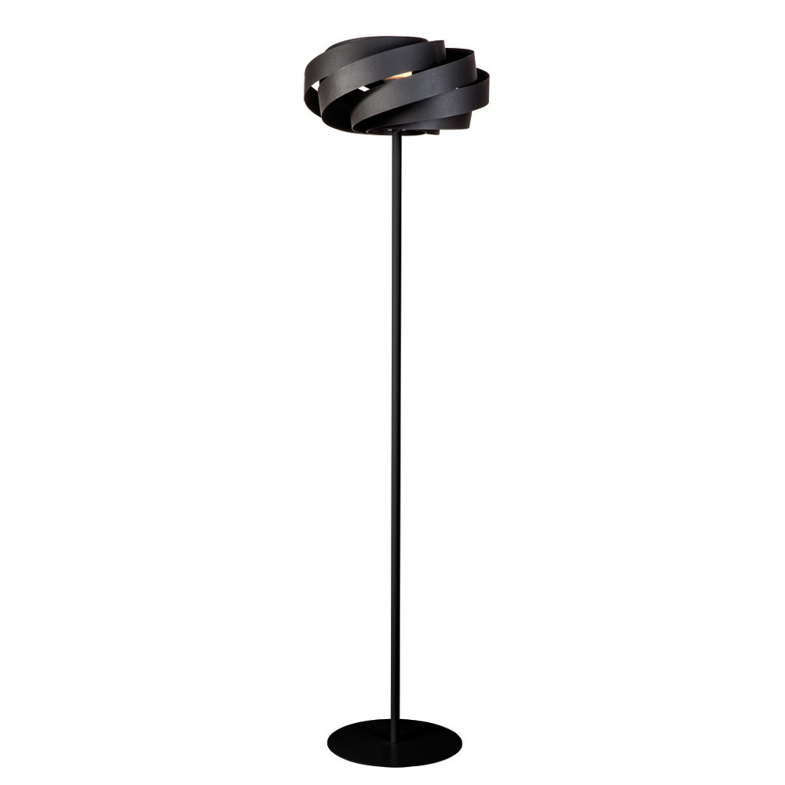 Vloerlamp Vento in zwart