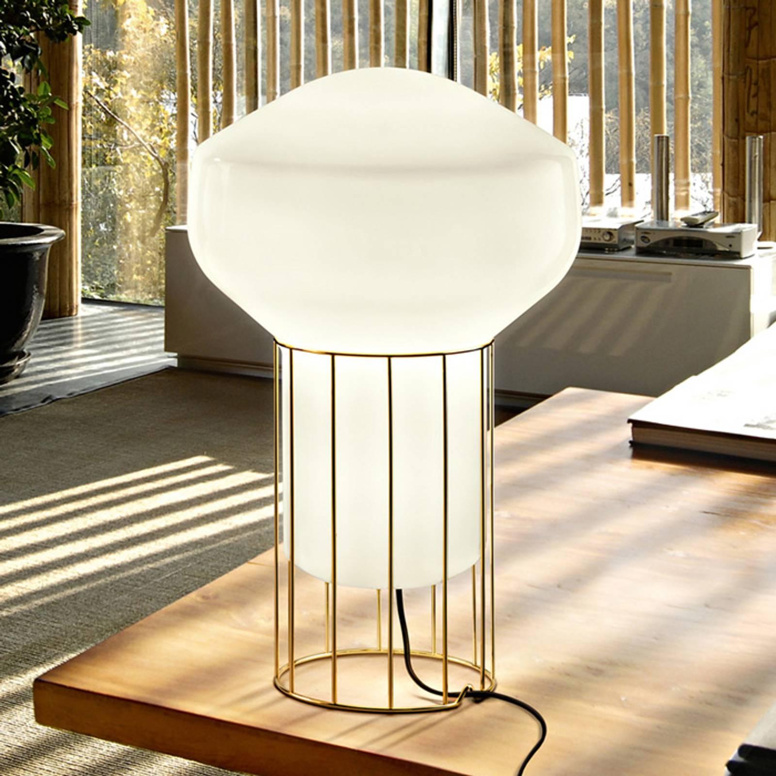 Design tafellamp Aérostat met messing voet 33cm