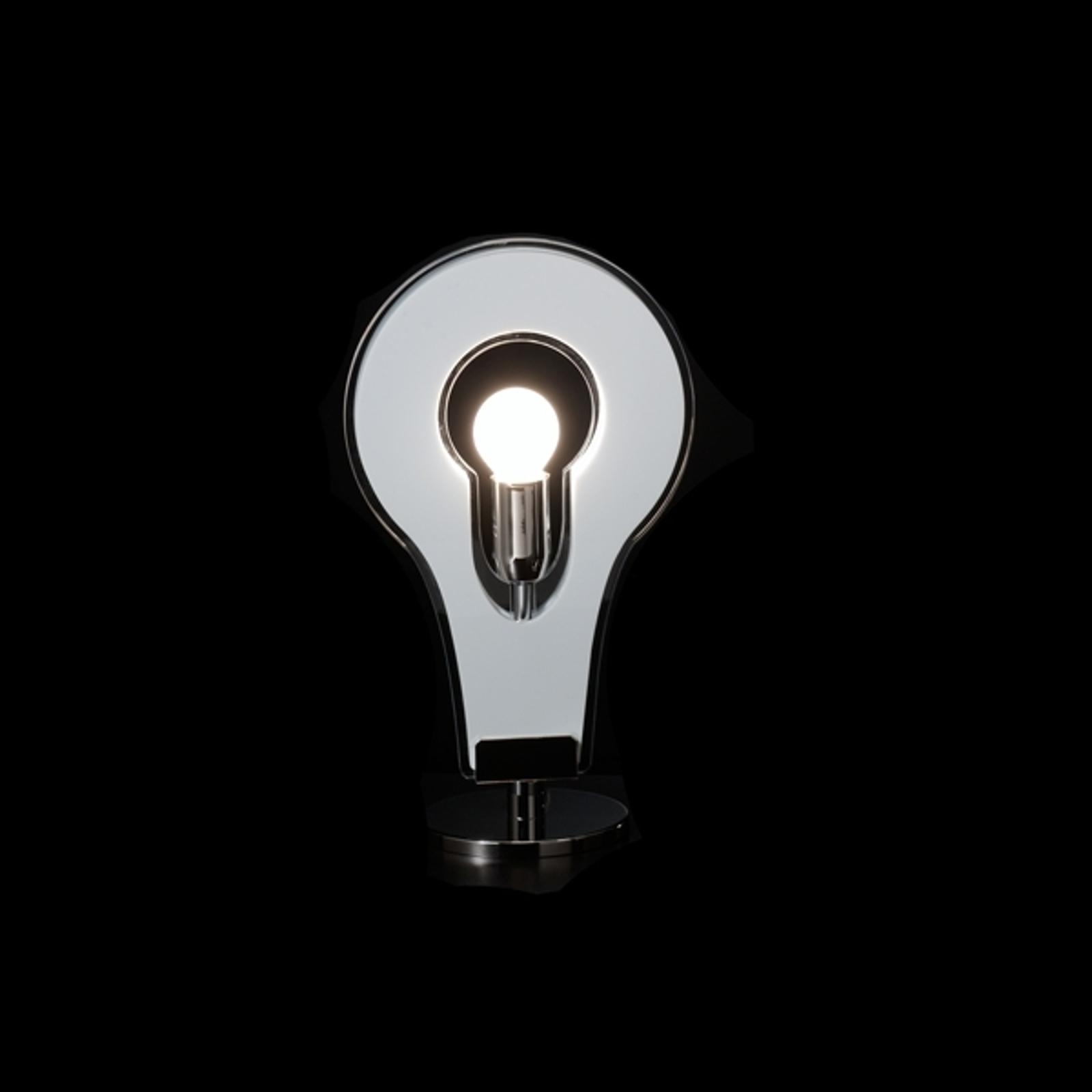 Vit, storslagen bordslampa Flat 32