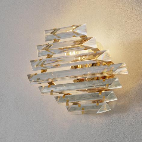 Goldene Kristallwandleuchte Losanghe