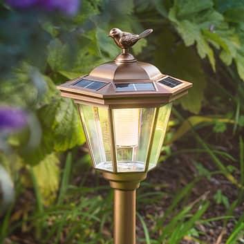 Solcelle-LED-jordspydlampe Tivoli i imitert kobber