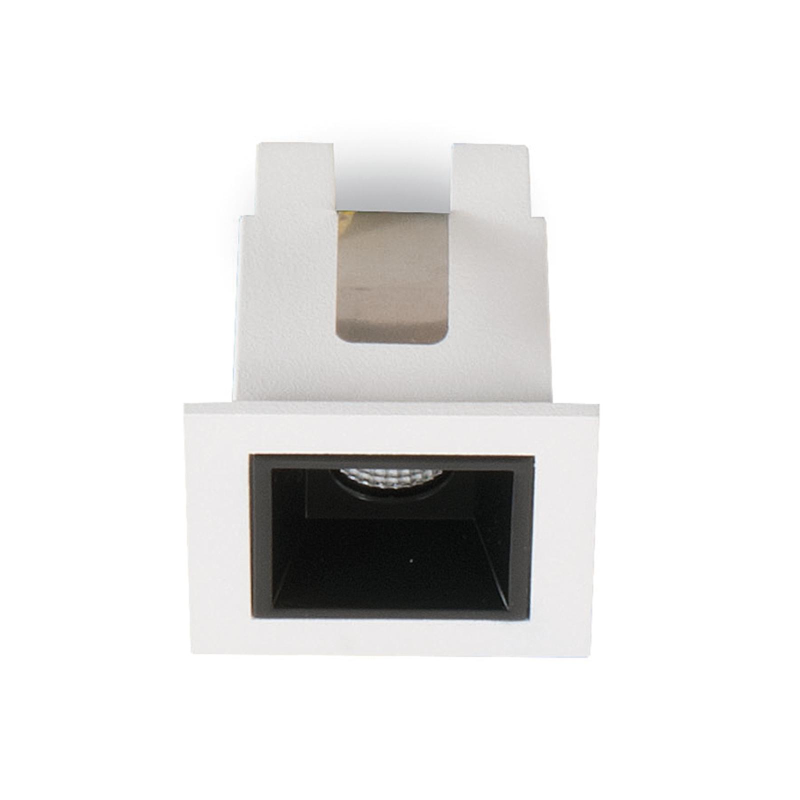 LED-Einbauleuchte Sound 1 30° mit Rahmen, weiß