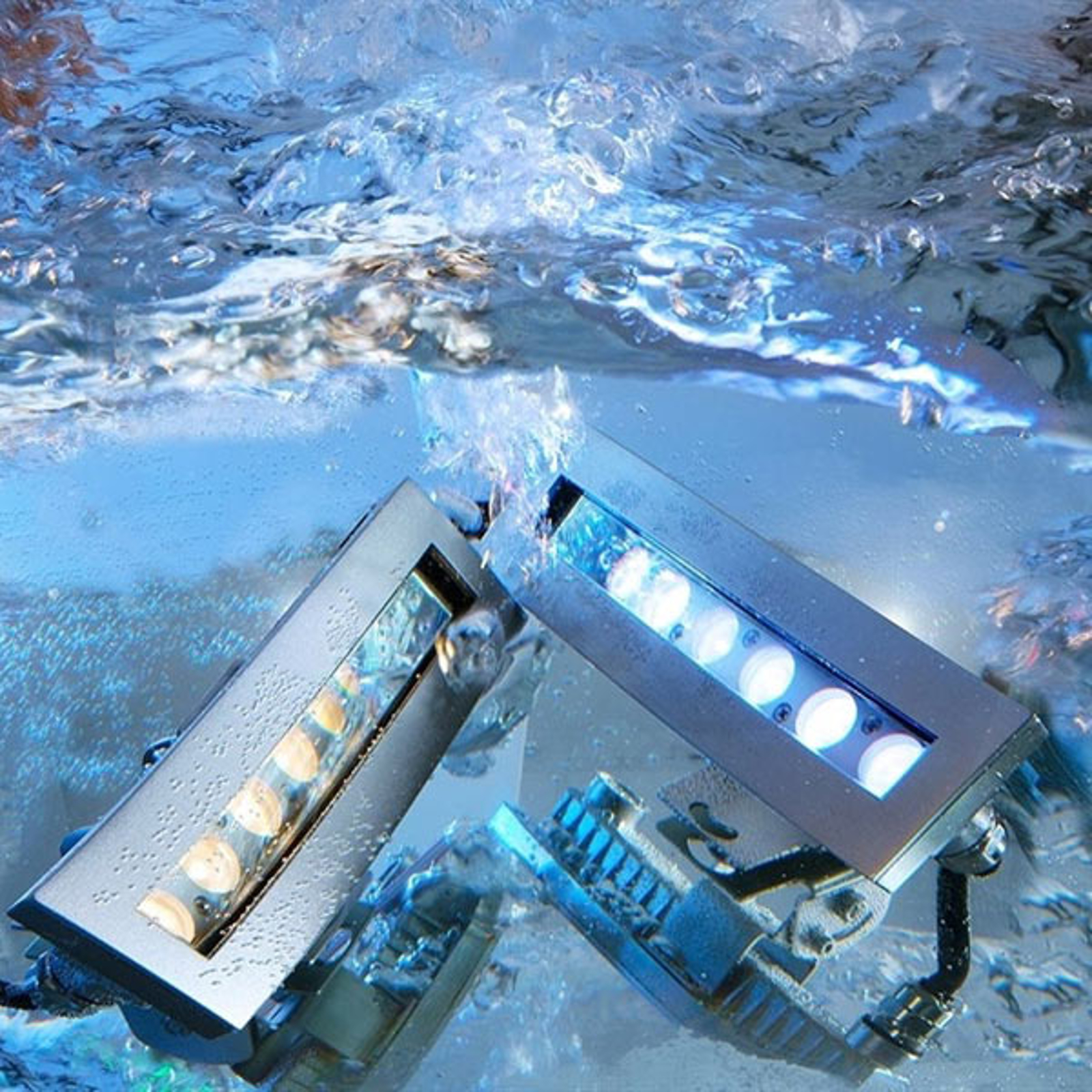 Power Spot LED lámpara subacuática, blanco cálido