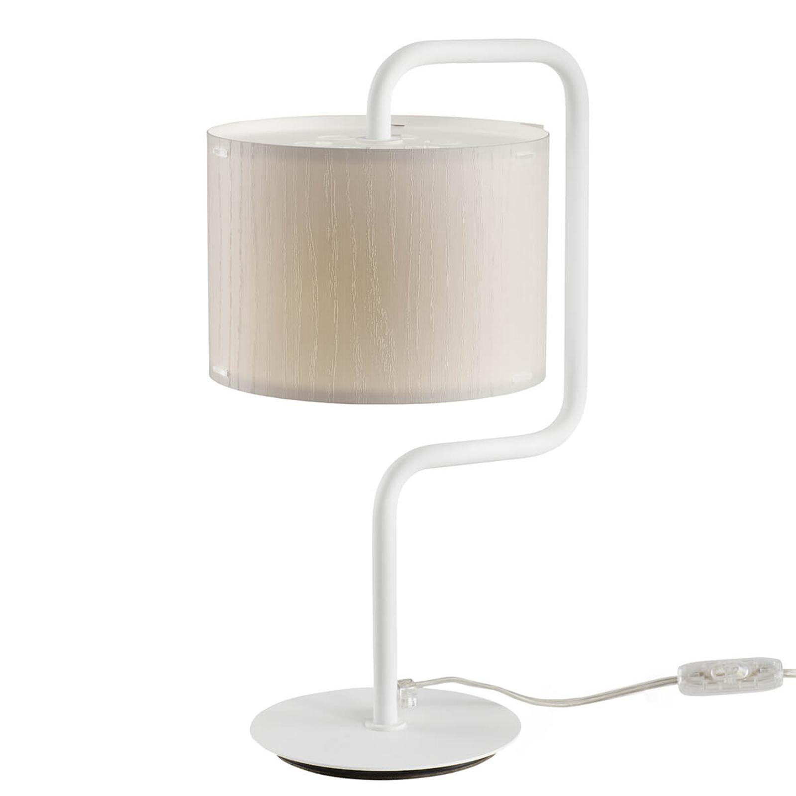 Lampe à poser Morfeo abat-jour plastique crème