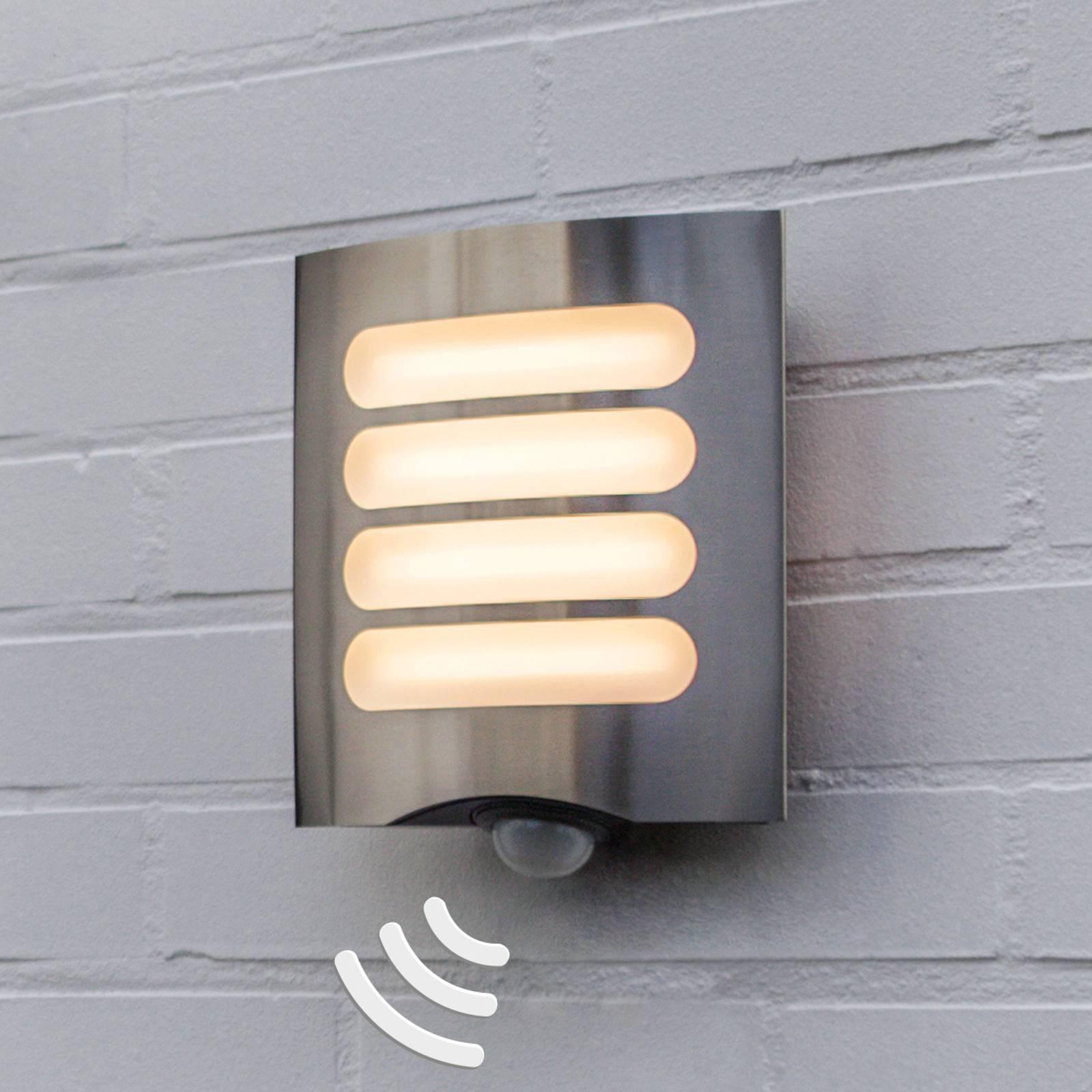 Sensor-buitenwandlamp Farell, onderverdeeld scherm