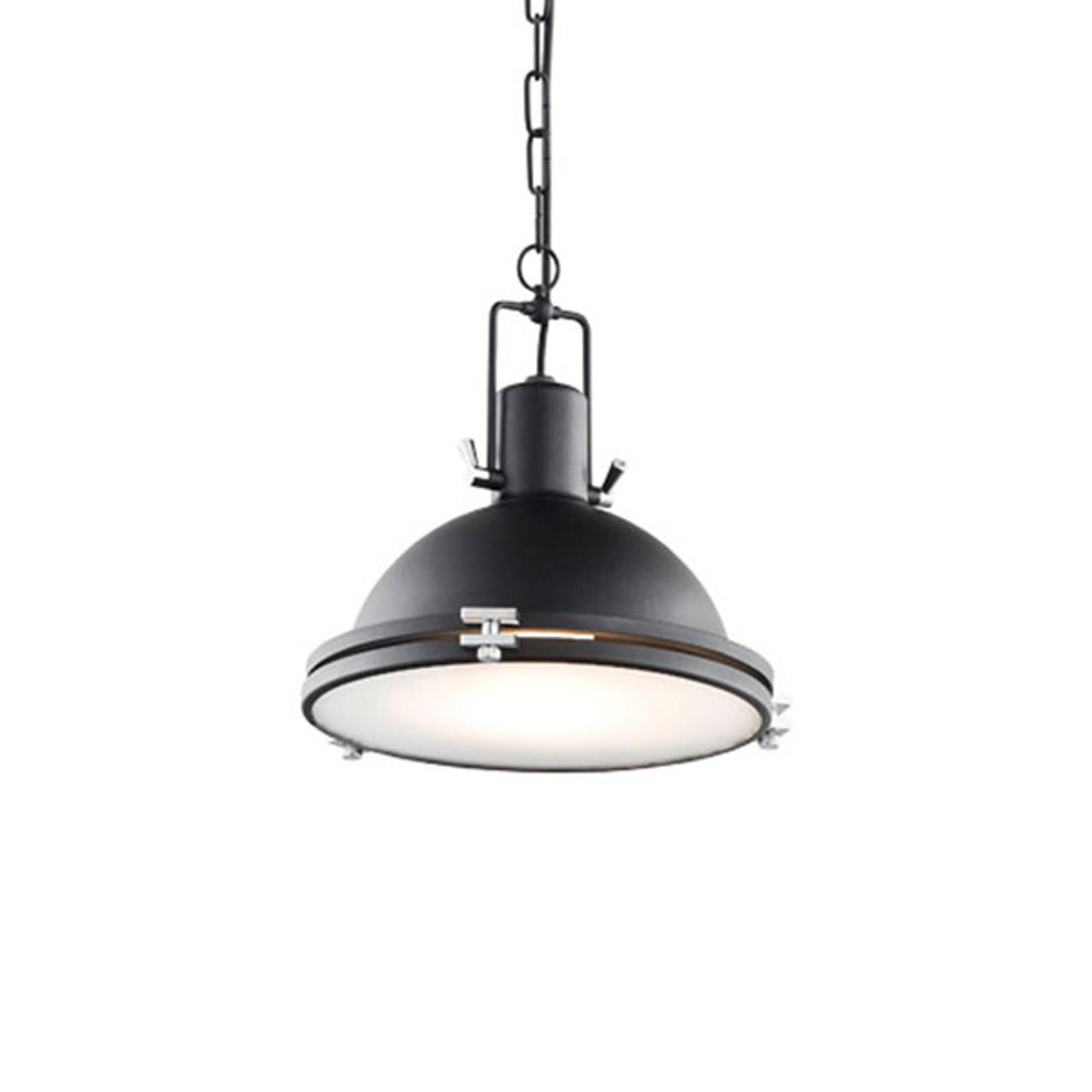 Hengelampe Kemi, svart, Ø 26 cm