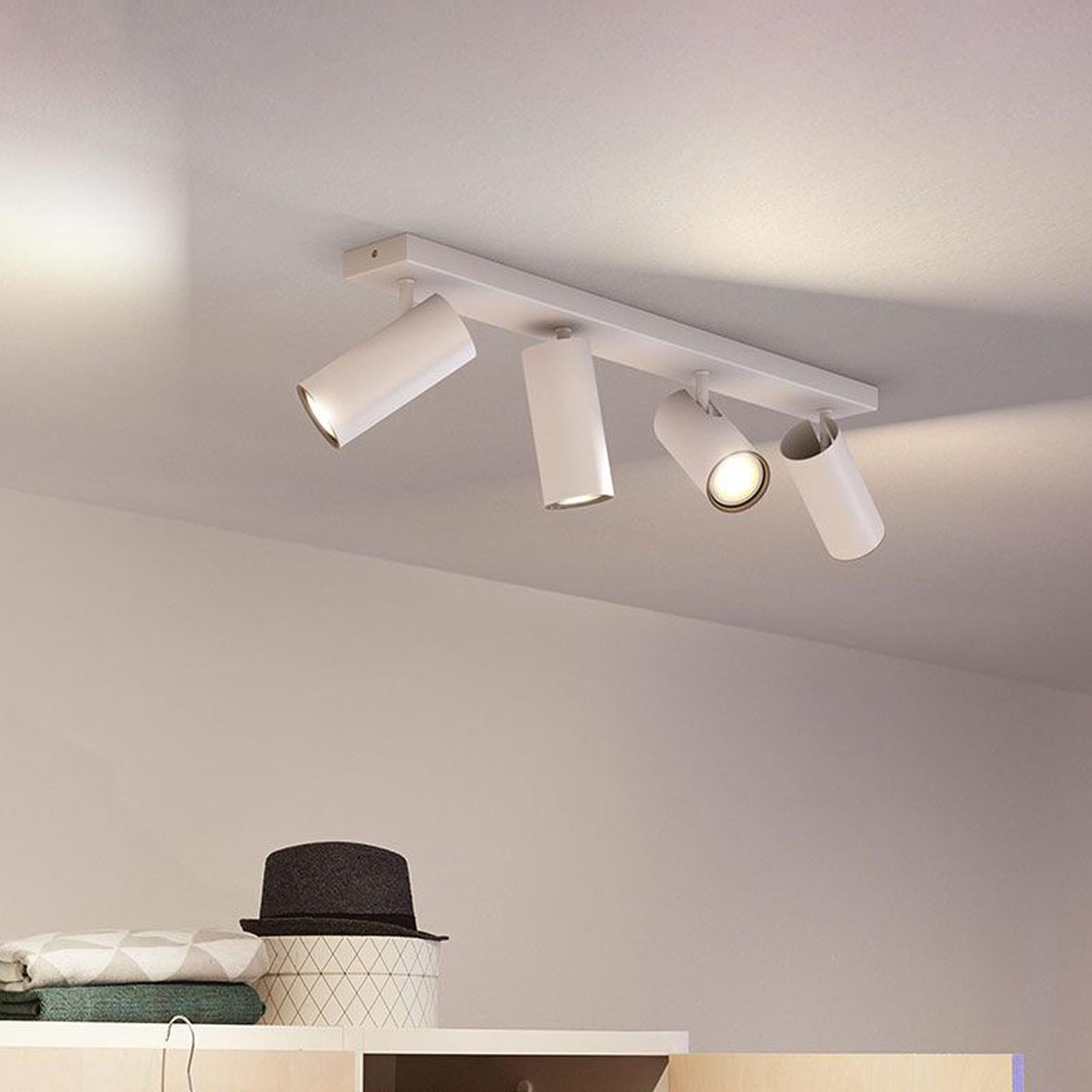 Philips Hue Buratto-LED-spot 4 lkld dæmper, hvid