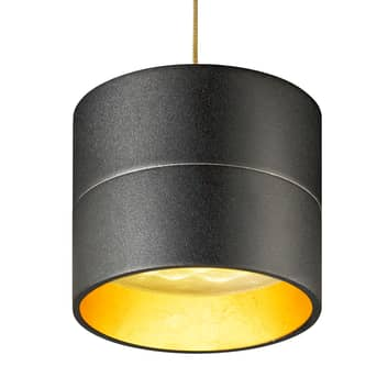 OLIGO Tudor S LED-Hängeleuchte 9,3 cm schwarz-gold