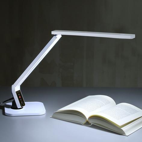 Toppmodern LED-skrivbordslampa Eleni, vit