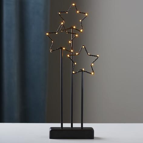 Lampada decorativa LED a 3 stelle Stary, nera