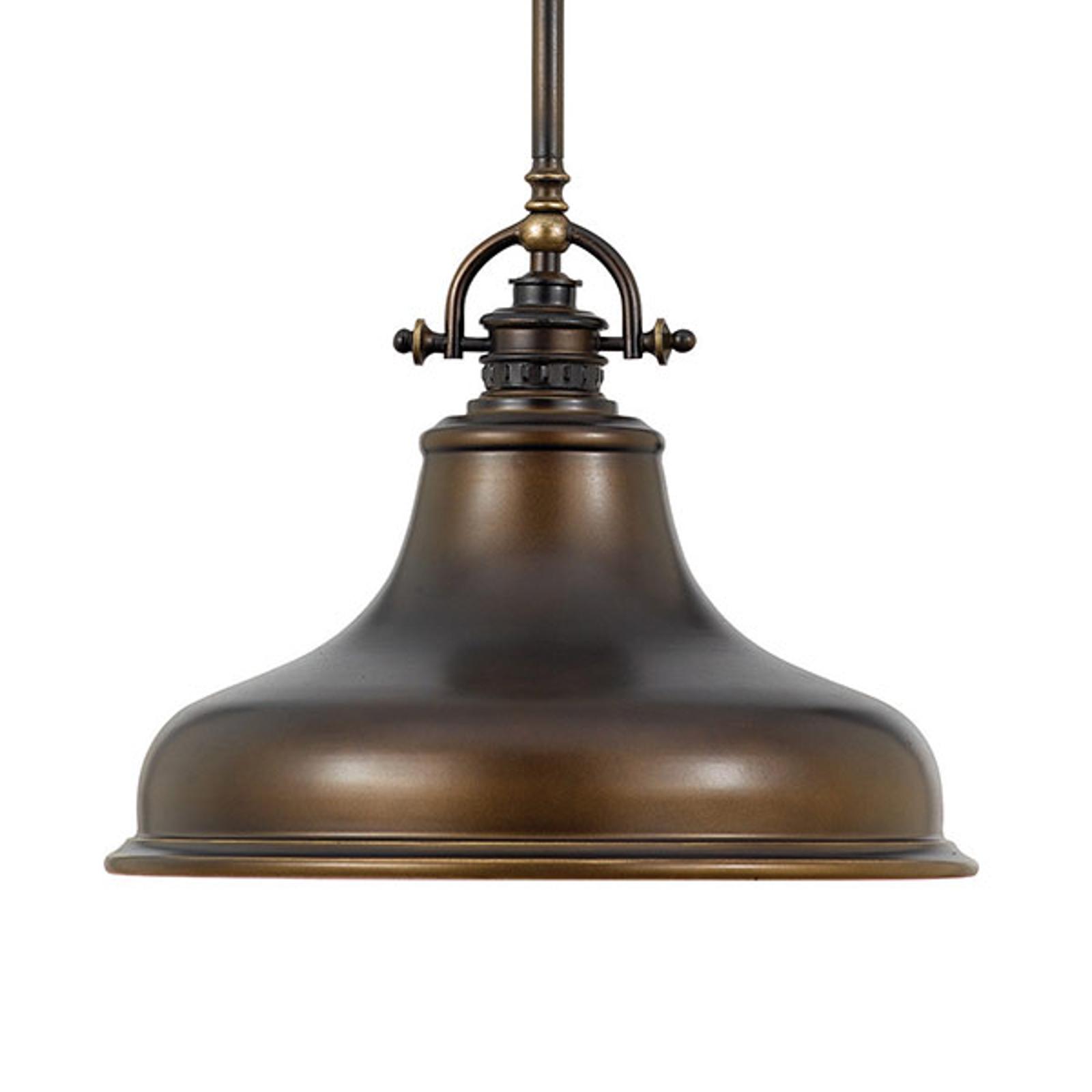Suspension Emery 1 lampe bronze Ø 34,3cm