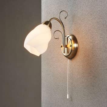 Romantická nástěnná lampa Amedea