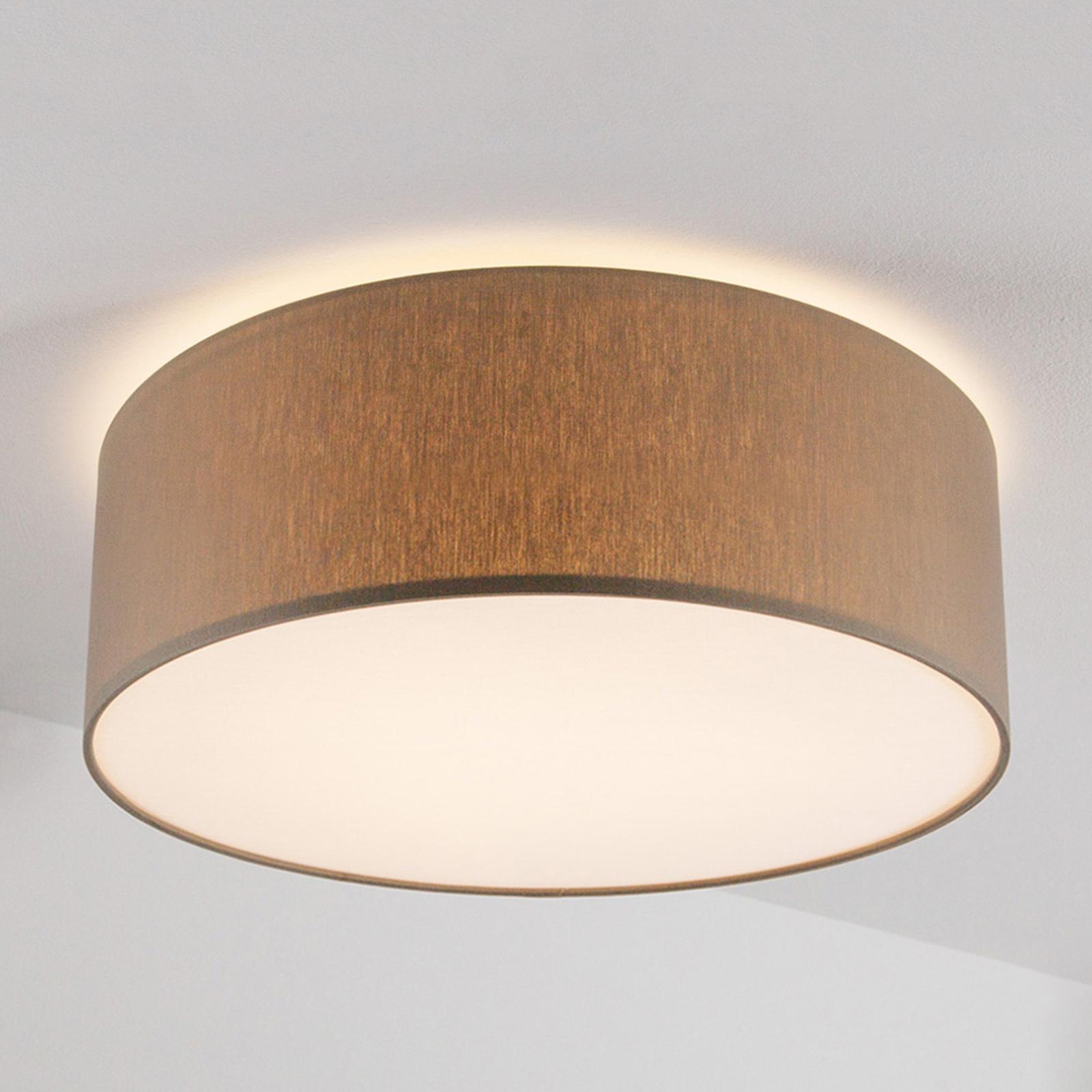 Grijsbruine plafondlamp Mara, 50 cm