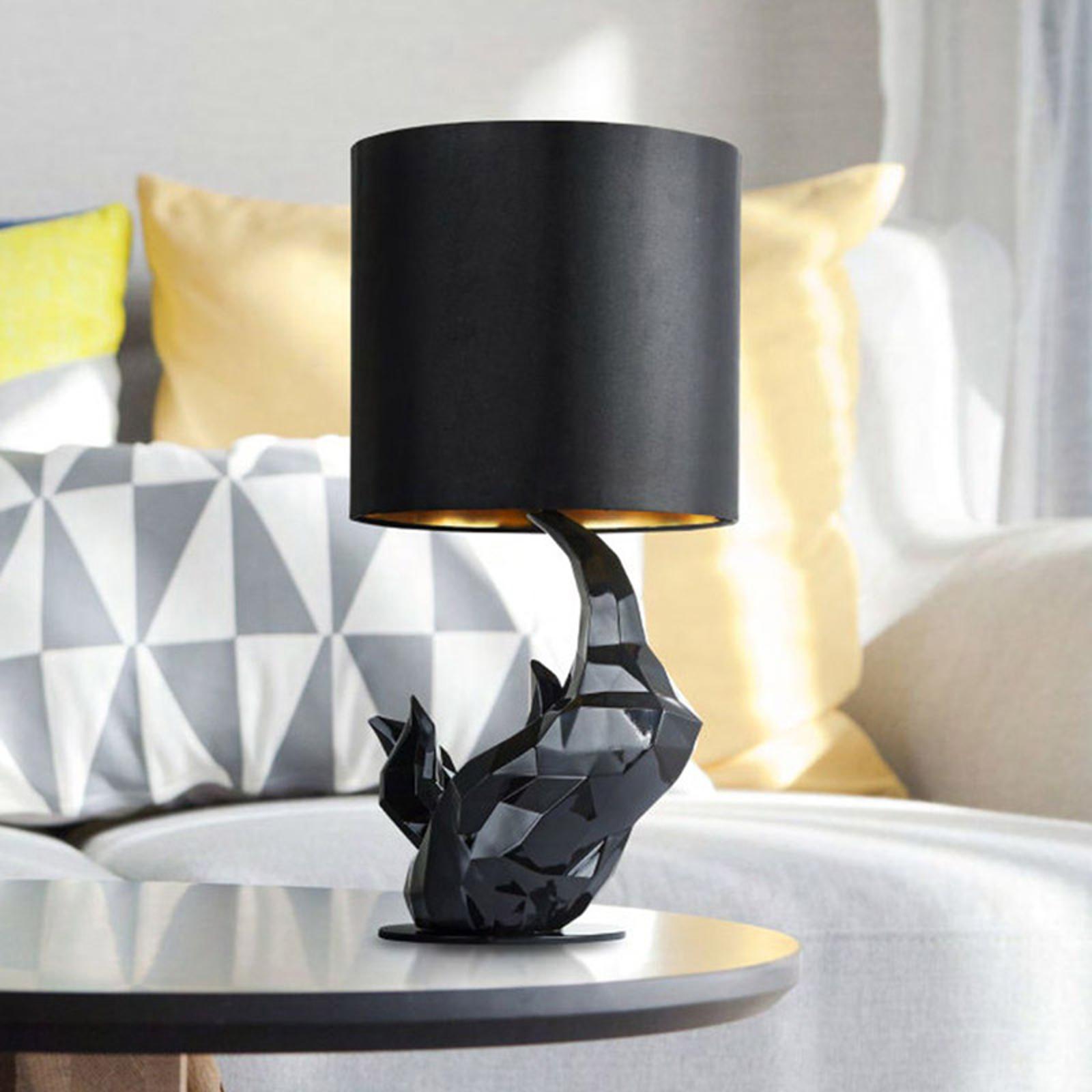 Tischleuchte Nashorn schwarz