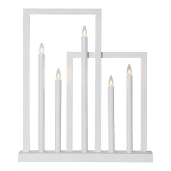Fönsterljusstake Frame av trä, 5 lampor