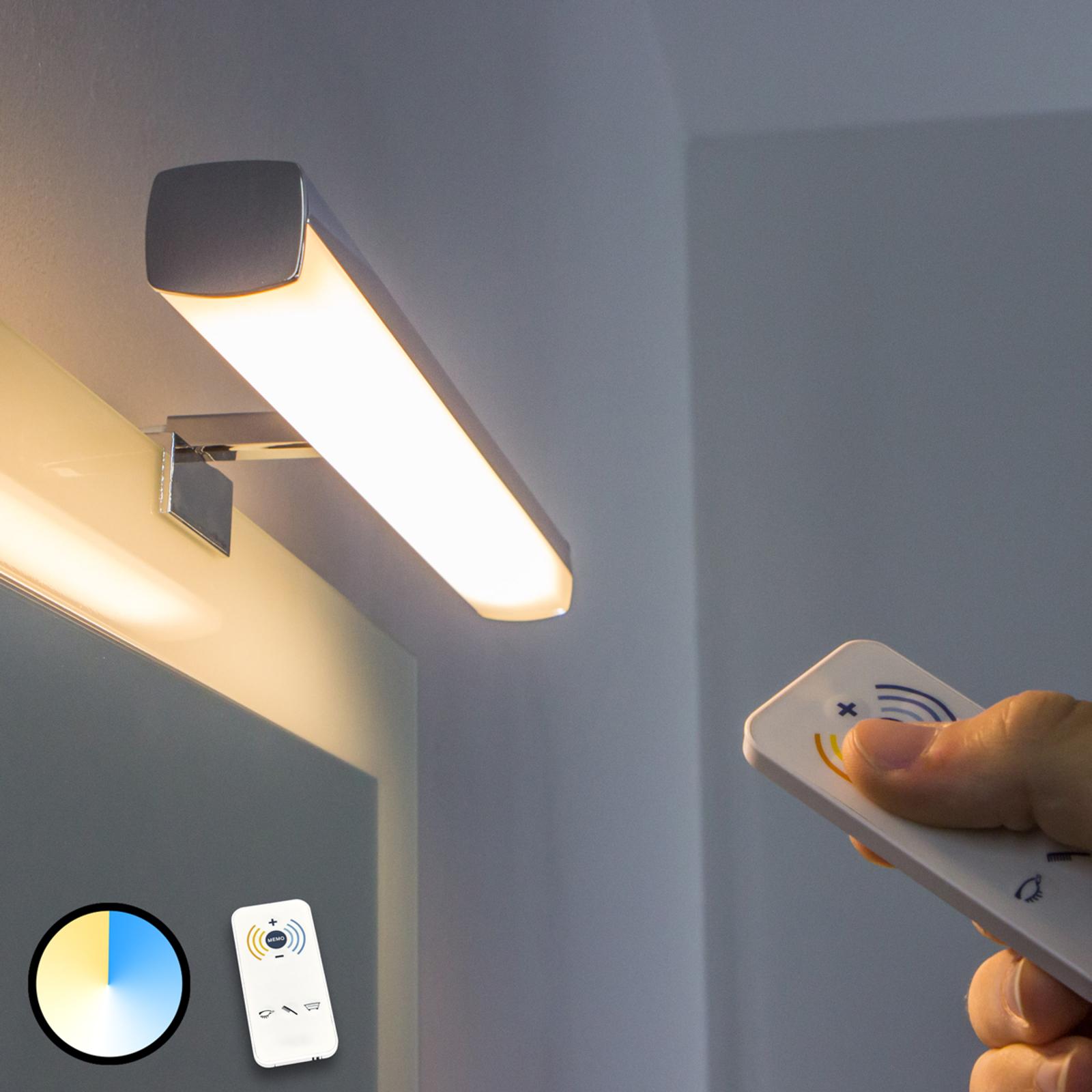 LED-speillampe Atlas - lysfarge kan reguleres