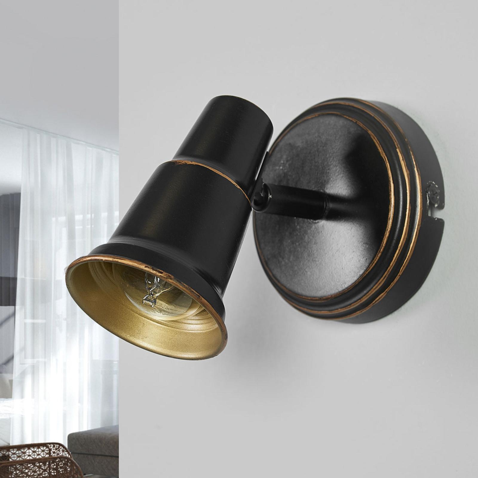 Arielle - Aplique en diseño envejecido en negro