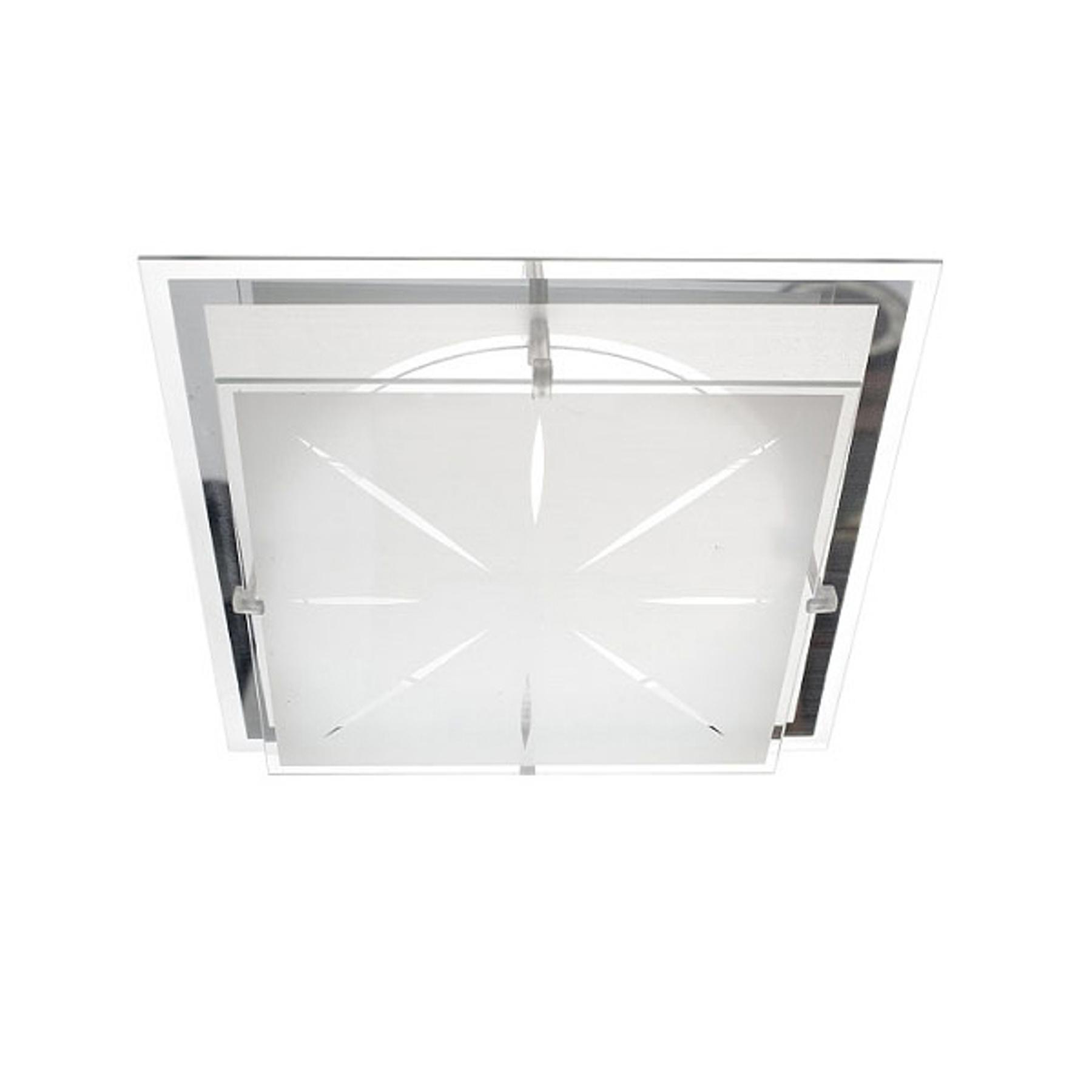 Plafoniera P2 di vetro 31,5x31,5cm