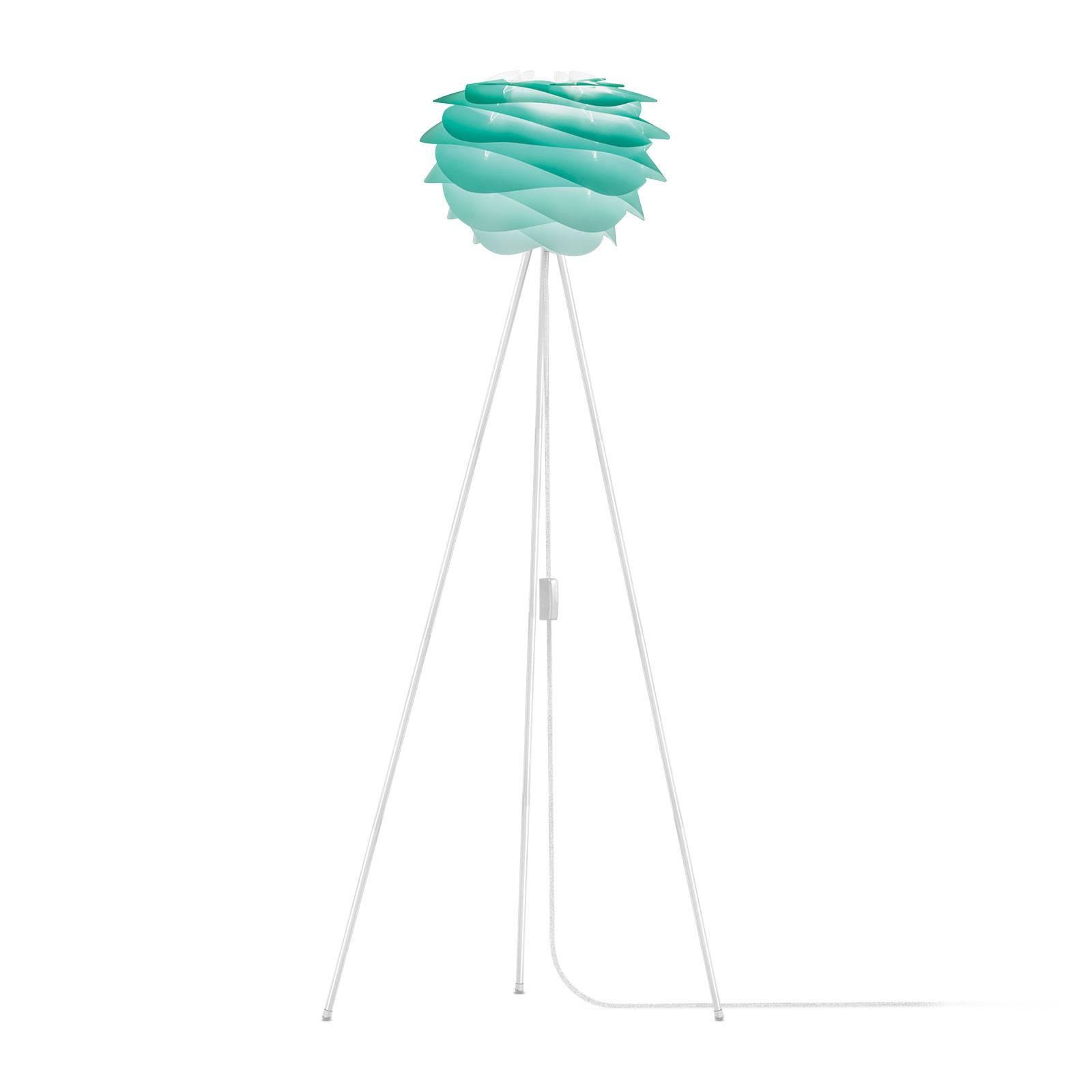 UMAGE Carmina Mini vloerlamp turquoise/tripod wit