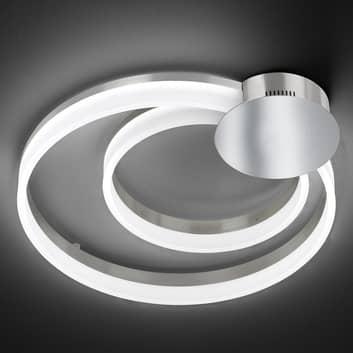 Stropní LED světlo Soul, dva kruhy