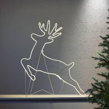 Tapesil Rensdyr LED-lysfigur til væg og gulv