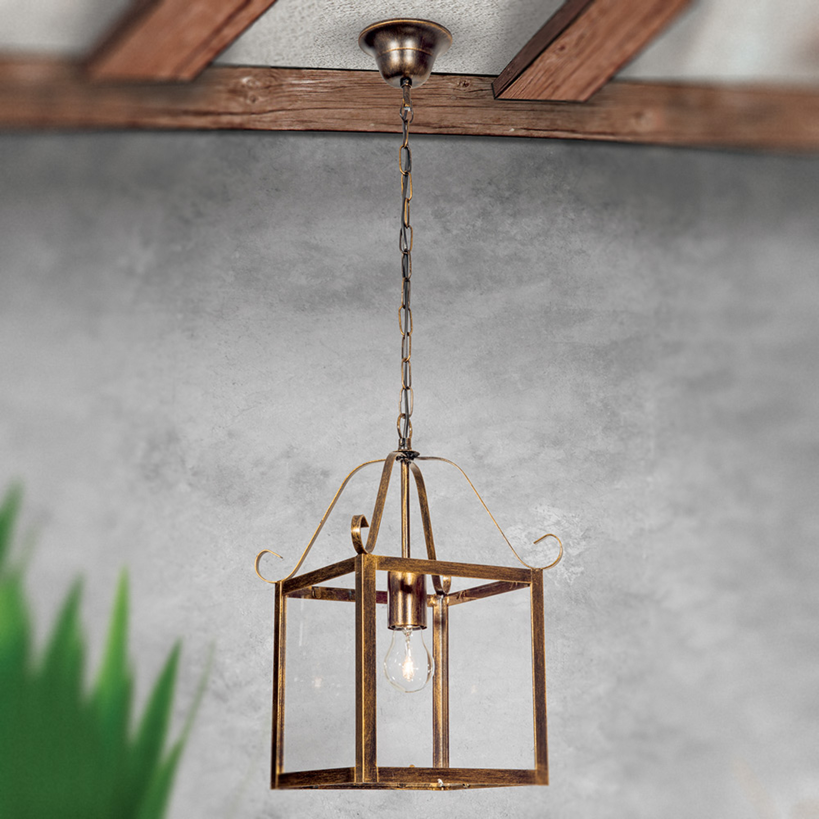 Upea FALOTTA-riippuvalaisin, kulmikas, 1-lamp.