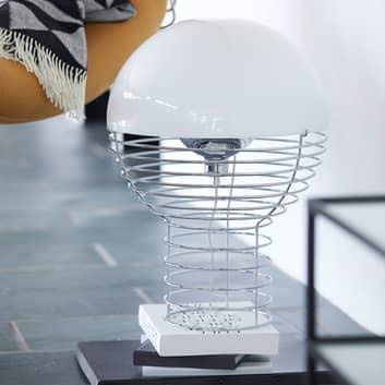 VERPAN Wire Large lámpara de mesa, pantalla blanca