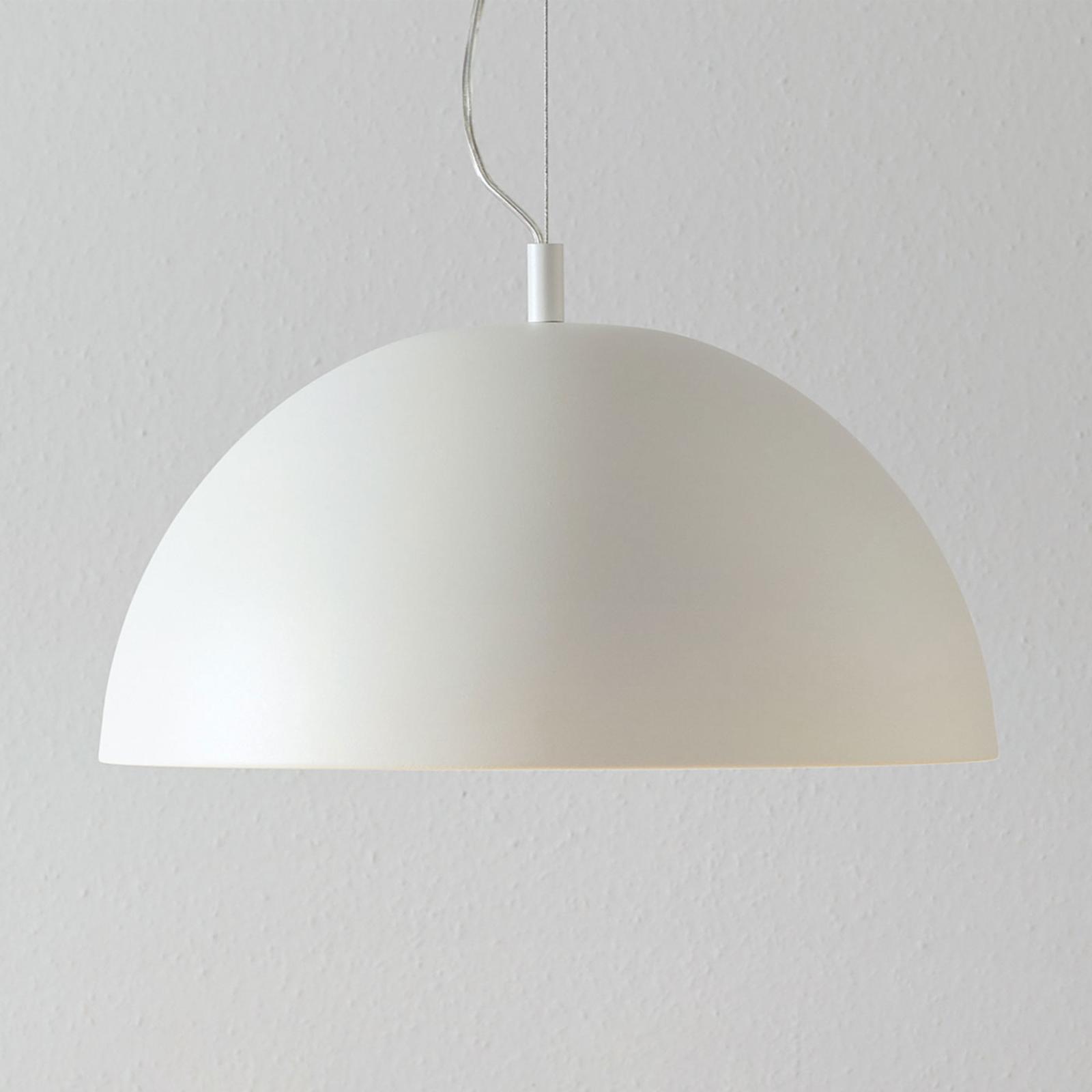 Lucande Phelan hængelampe 40 cm hvid/guld