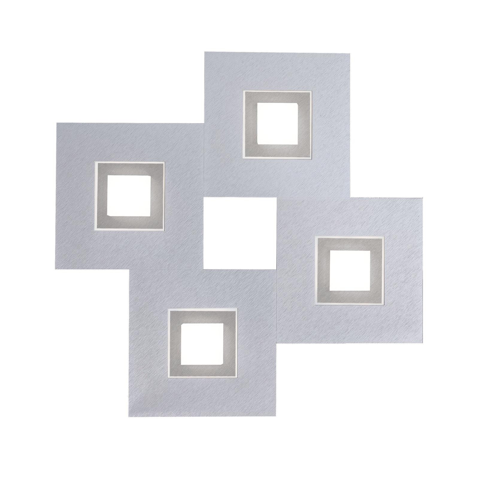 GROSSMANN Karree, 4 lysk., 50x50, aluminium, titan