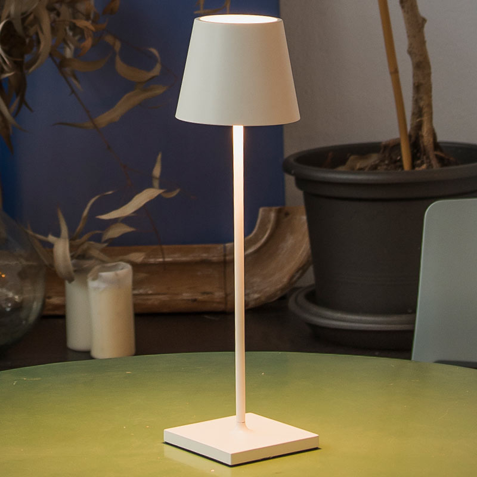 Lampada LED da tavolo Toc con porta USB, IP54