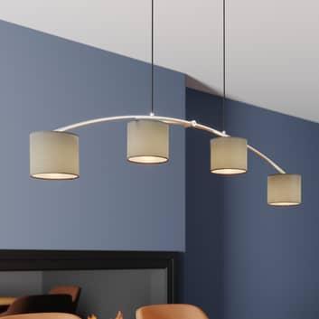 Lucande Juljana lámpara colgante, 4 luces pantalla