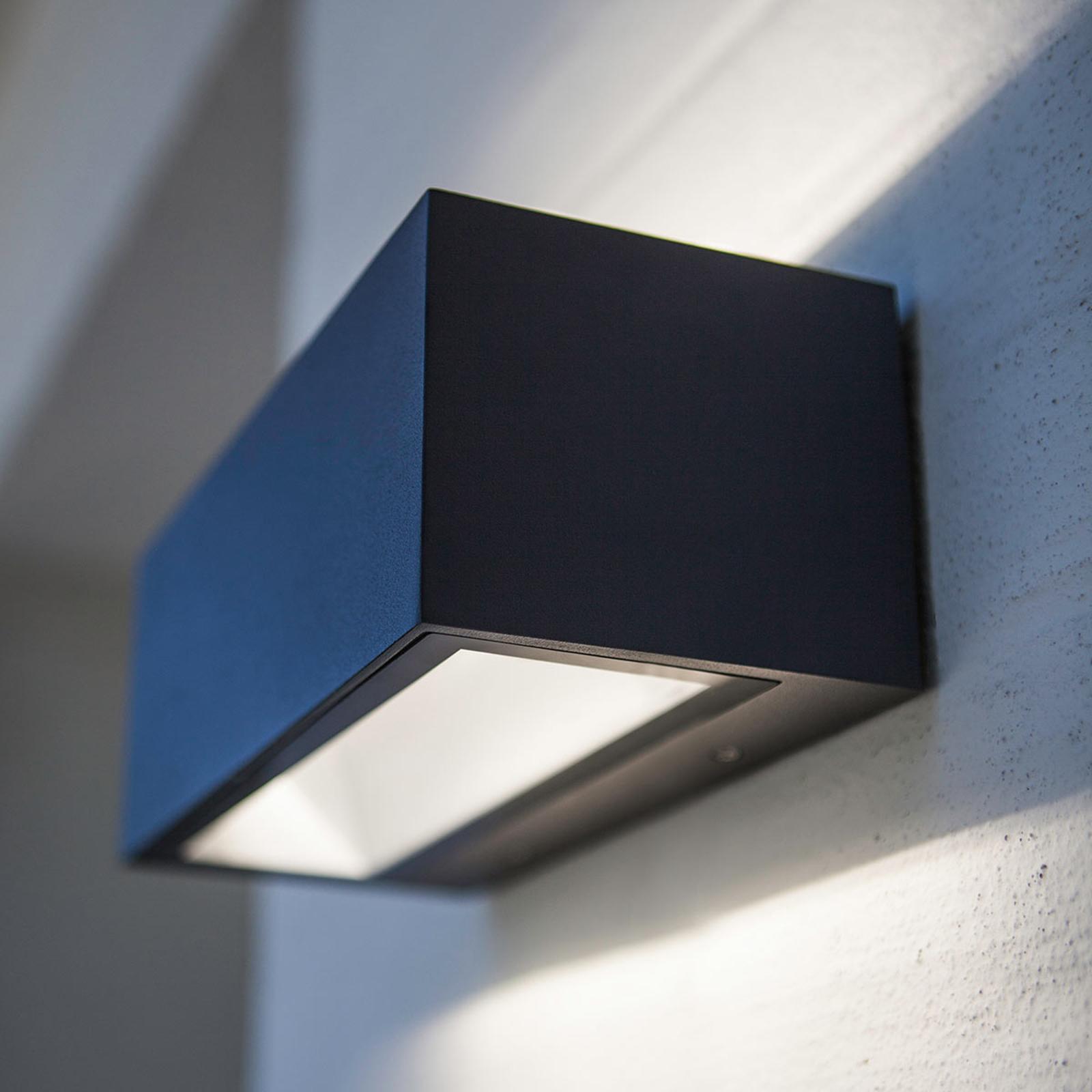 Moderne, utendørs LED-vegglampe Nomra IP54