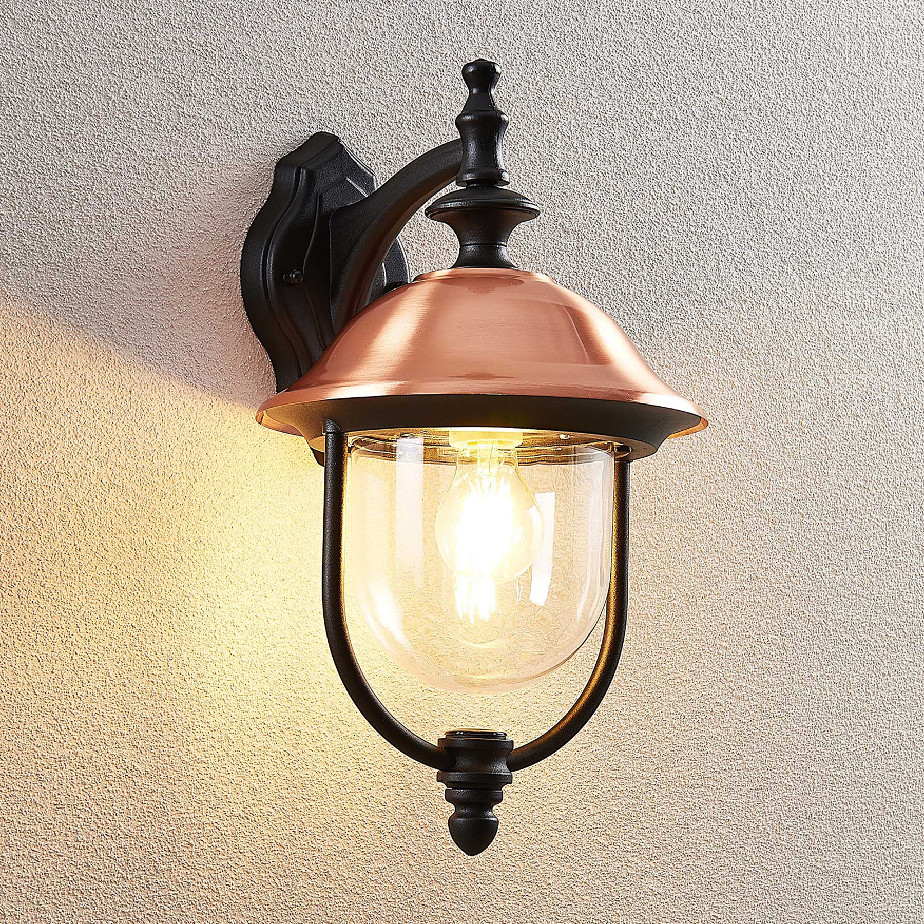 Lindby Clint buitenwandlamp, lantaarn opknoping