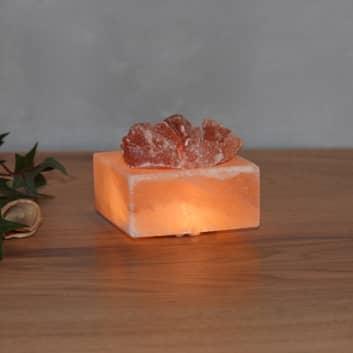 Salzkristallschale Petite Kubus LED
