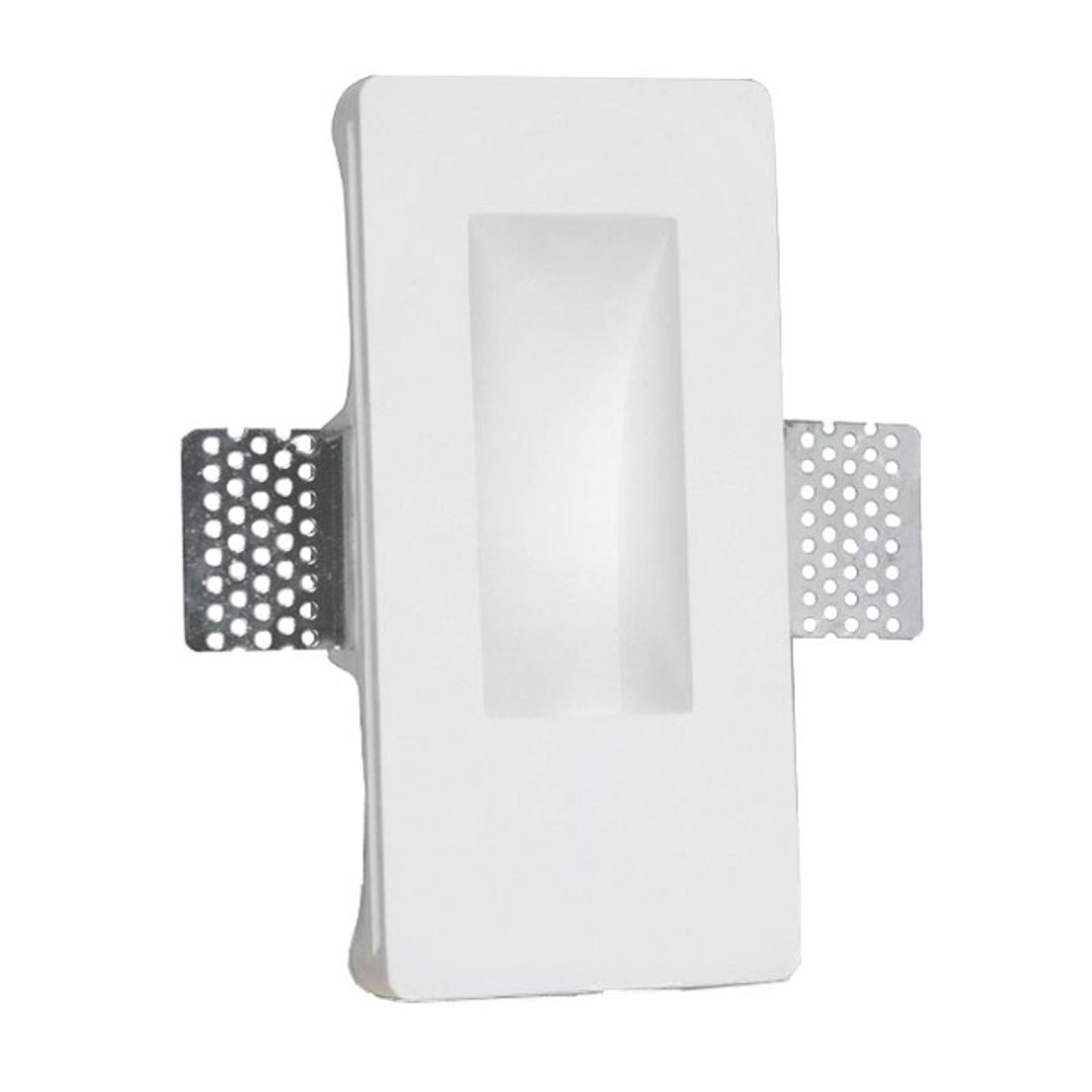 LED innfelt vegglampe Zementos av gips