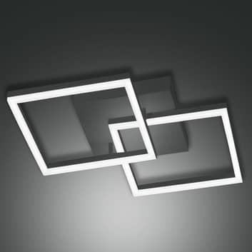 LED-Deckenleuchte Bard 45x45 cm 2fl., anthrazit