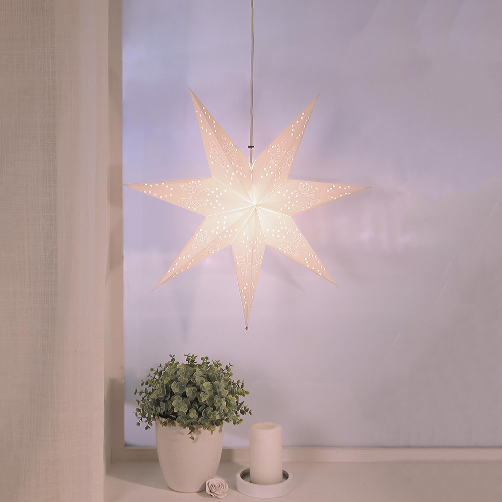 Hengende papirstjerne Romantic Star