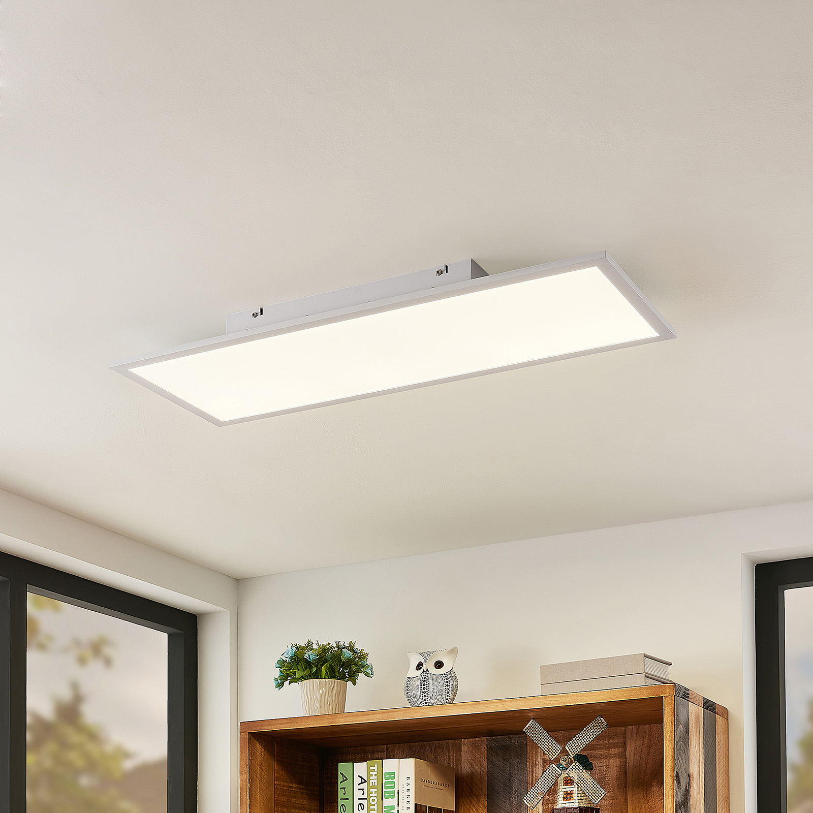 Lindby Quais LED-Panel 4.000K, 30X80 cm