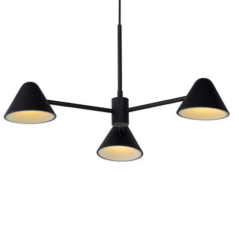LED-Pendelleuchte Devon mit drei Kegelschirmen