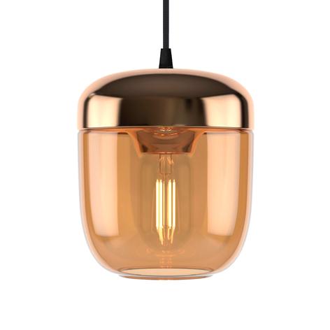 UMAGE Acorn lámpara colgante 1 luz ámbar latón