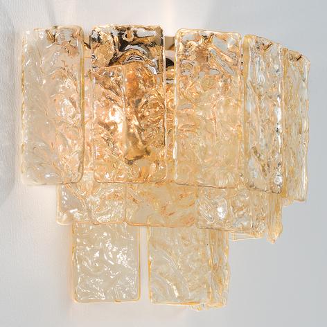 Lasinen seinävalaisin Glace, kultakiinnikkeellä