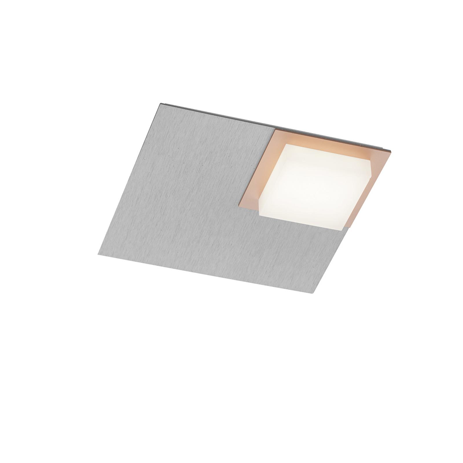 BANKAMP Quadro LED-taklampe 8W sølv