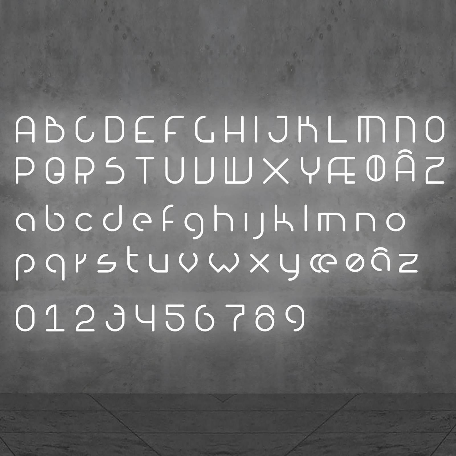 Artemide Alphabet of Light parete minuscola c