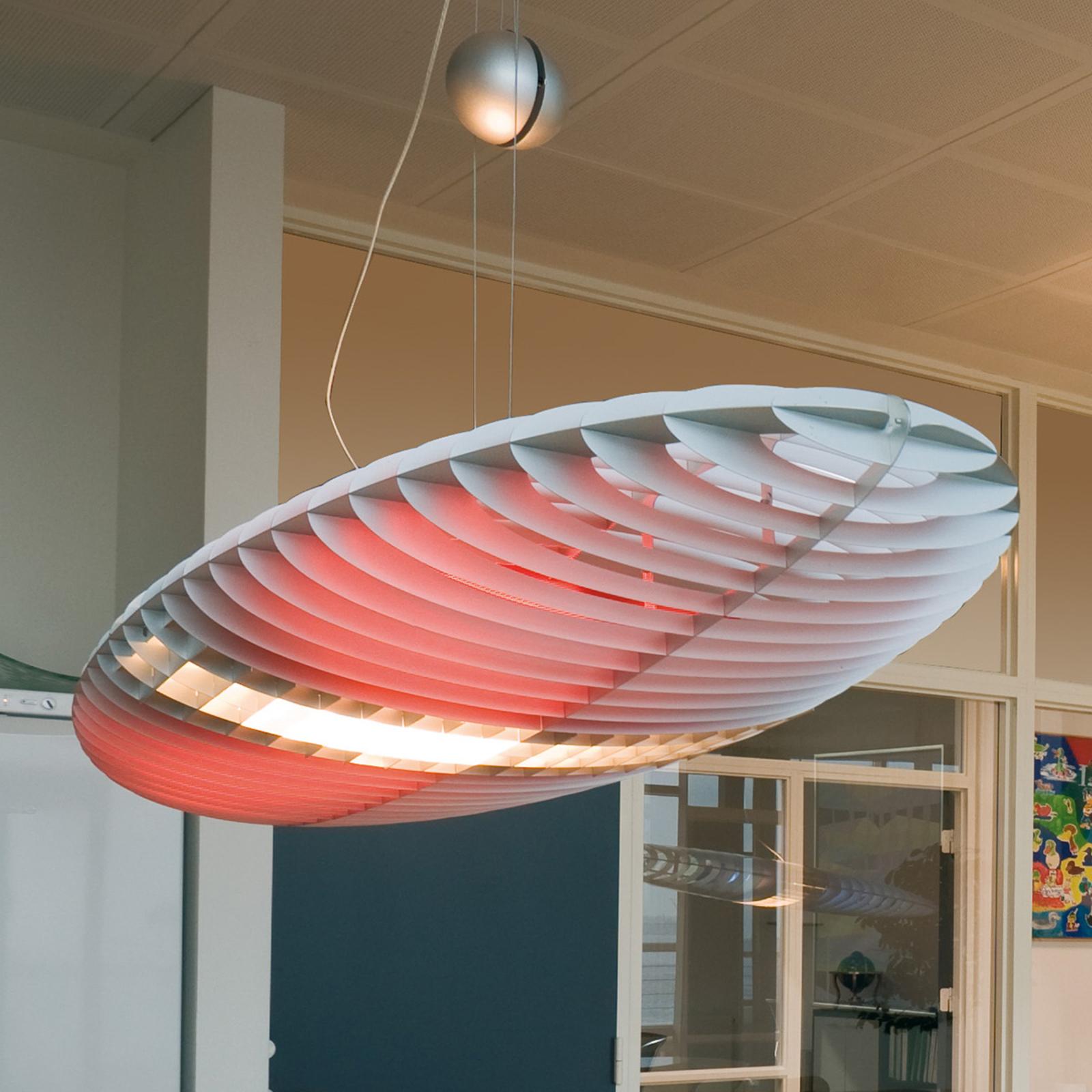 Luceplan Titania lampa wisząca z filtrami barwnymi